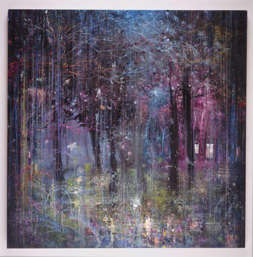 MANFREDI BENINATI, Aziz, 2004, oil on canvas, 71 5/8 x 71 5/8 inches