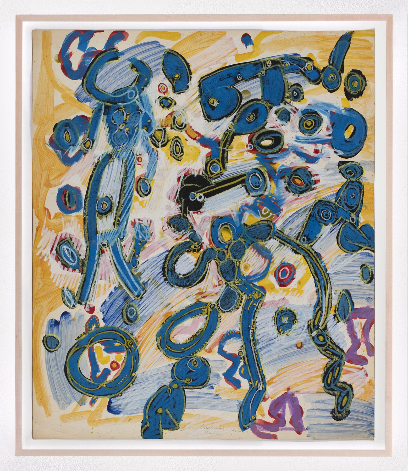 LEE MULLICANSummer world​1965Oil, acrylic, and pastel on paper30 1/2 x 25 1/2 in.77.5 x 64.8 cmJCG9347