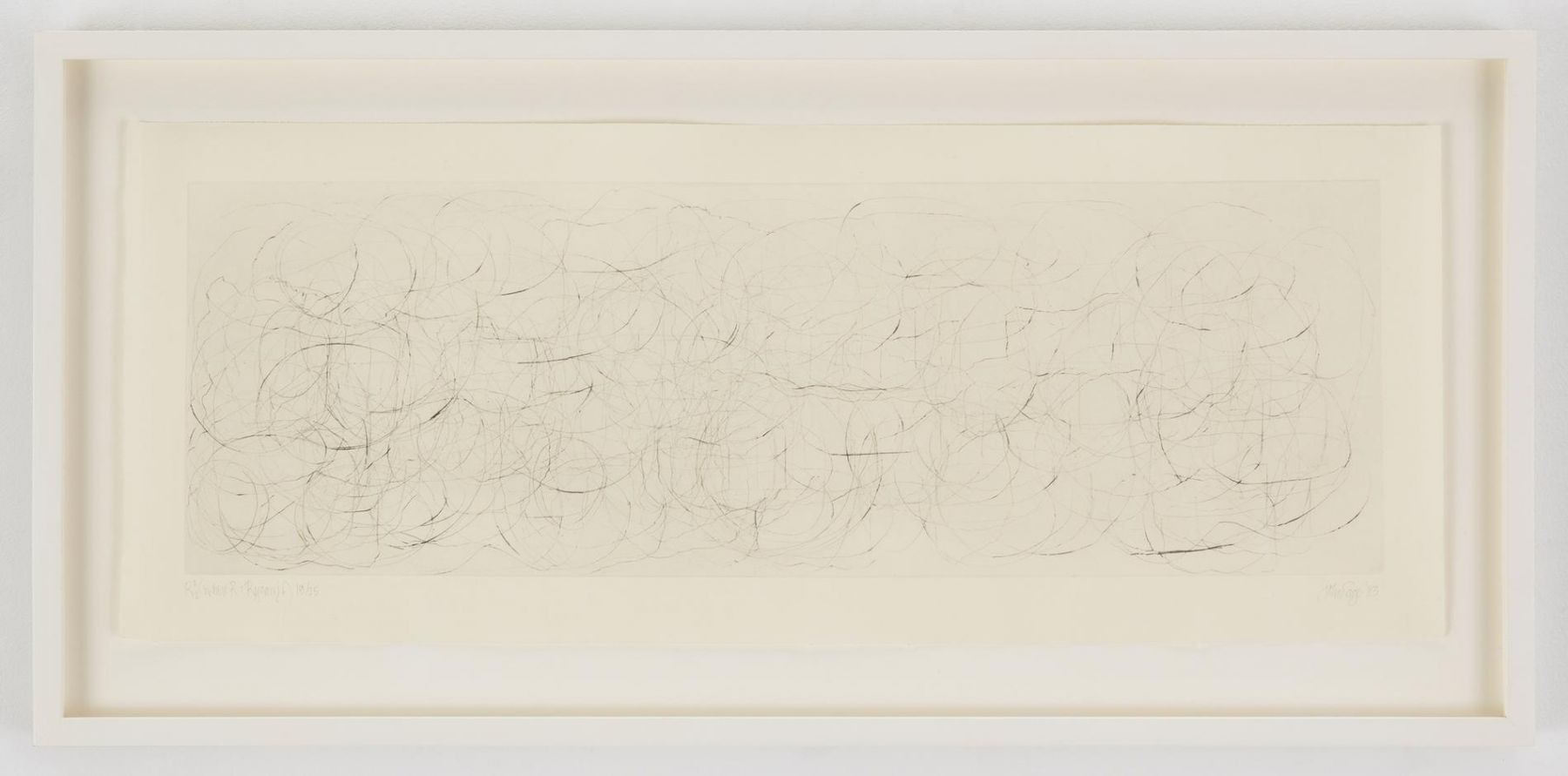 , JOHN CAGE(Where R = Ryoanji),1983Drypoint, Set of 4Each: 9 1/4 x 23 1/4 in. (23.5 x 59 cm)Edition of 25