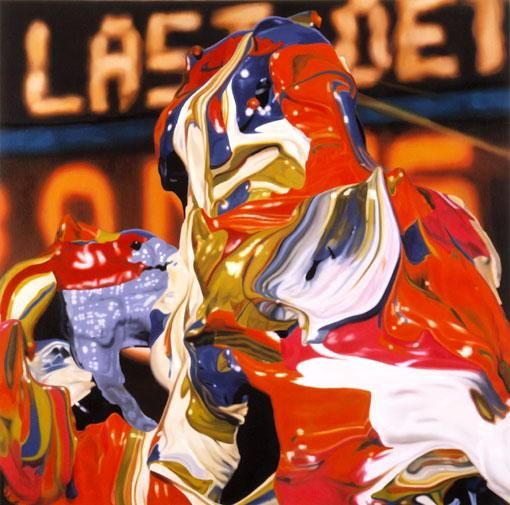 The Last Detail, 1999, Oil on canvas, 36-1/2 x 36-1/2 inches