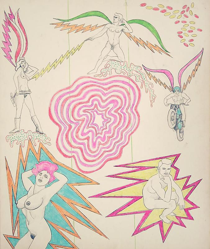 ROBERT SMITHSON Untitled [Psychedelic center pink], 1964