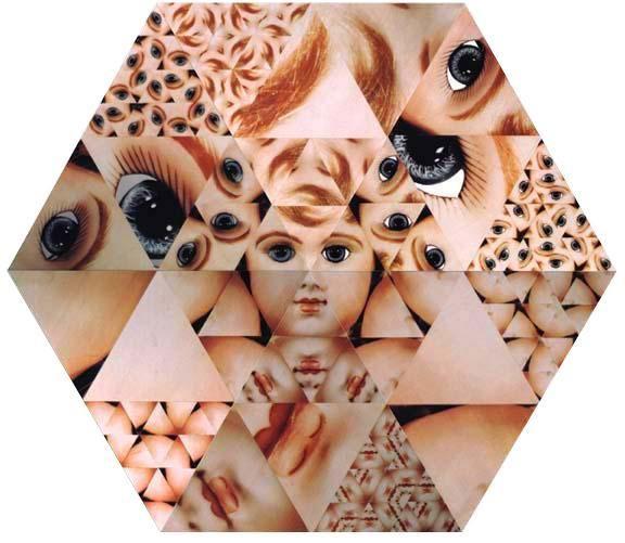 VITO ACCONCI Blown-Up Baby-Doll (6 Triangle) 放大的玩偶(六组三角形), 1993