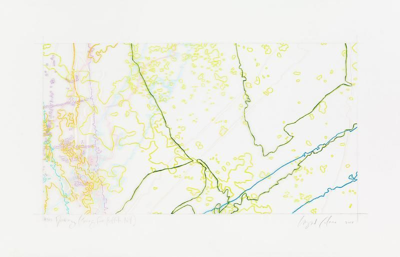 """INGRID CALAME英格丽•卡兰 #308 Drawing (Tracings from Buffalo, NY) 绘ç""""»308号(从纽约水牛城得到描图),2008"""