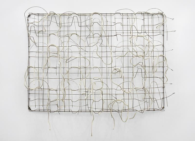 BILL JENKINS Bed with Rope and Fence