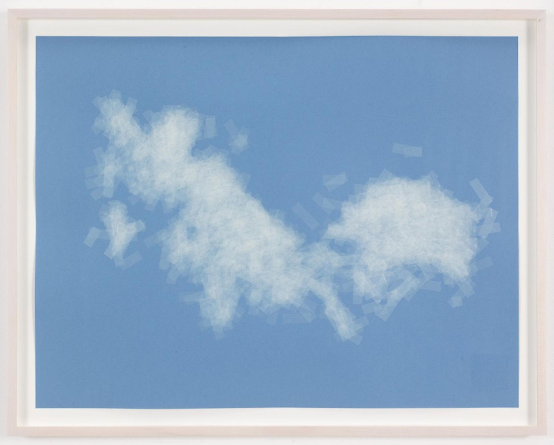 , SPENCER FINCH, Cloud (cumulus fractus, Massachusetts, E.D.), 2014, Scotch tape on paper, 19 3/4 x 25 1/2 in. (sheet), 21 5/8 x 27 1/2 in. (framed)