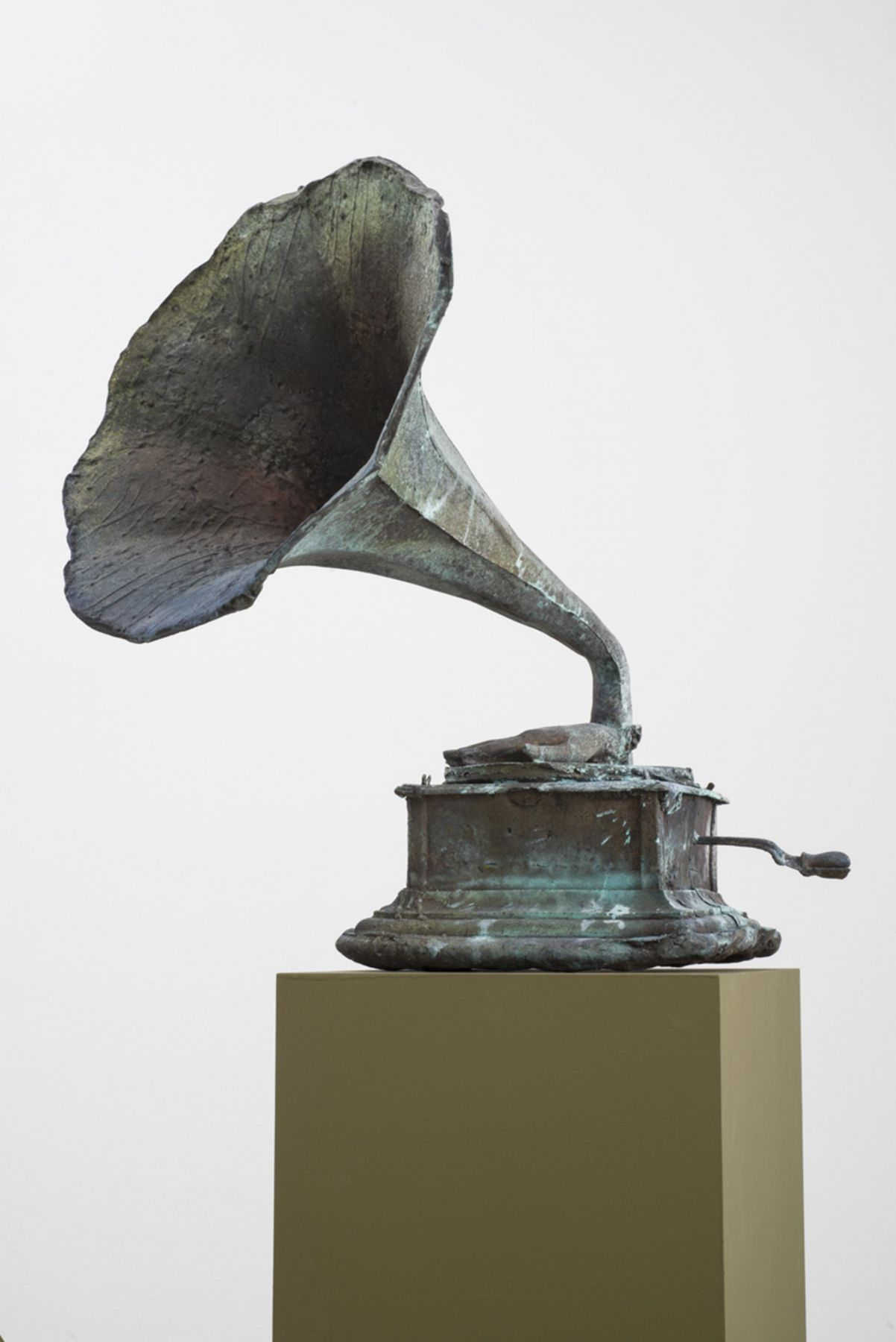 , FOLKERT DE JONG The Last Definition of Ideas, 2014 Patinated bronze 30 1/2 x 27 x 25 1/2 in. (77.5 x 68.6 x 64.8 cm)