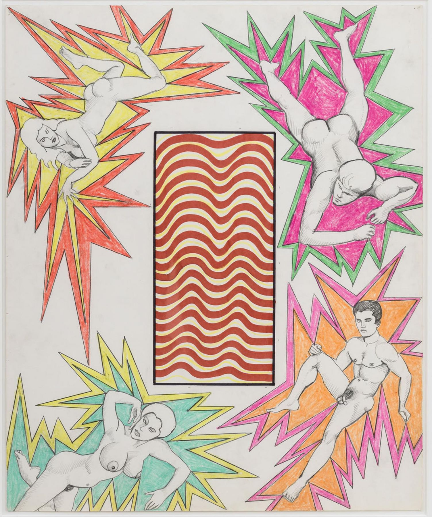 ROBERT SMITHSON Untitled [Red and yellow waves]