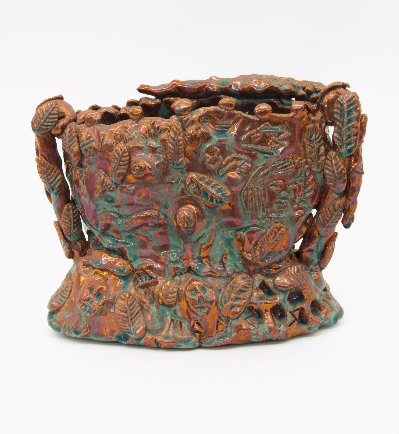 , Bountiful Life Red Luster, 1986, Luster glazed earthenware, 8 1/2 x 11 x 5 in.