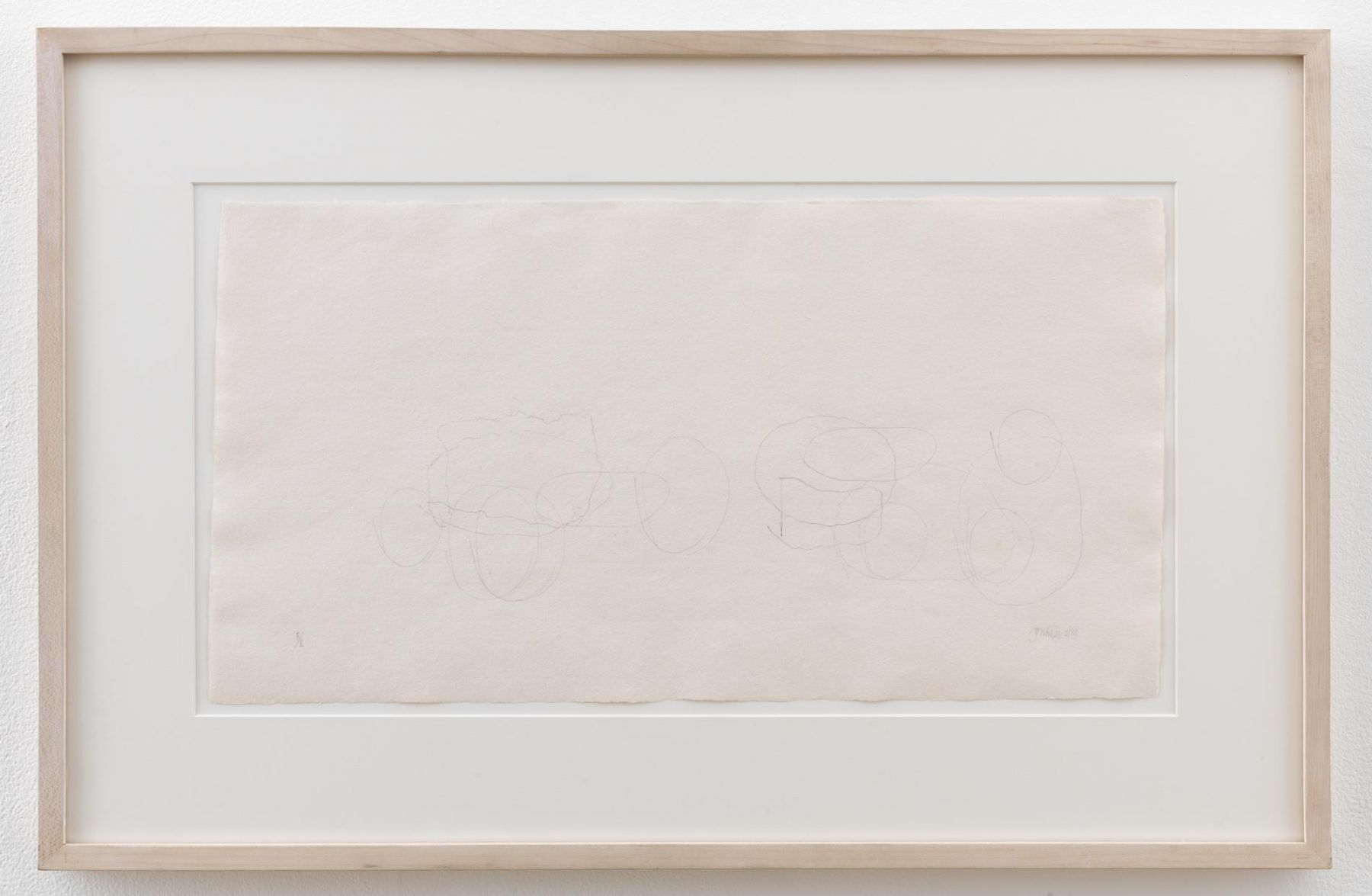 , JOHN CAGE Where R = Ryoanji R/1 – 2/88, 1988 Graphite on handmade paper 16 7/8 x 26 x 1 1/4 in. (42.9 x 66 x 3.2 cm)