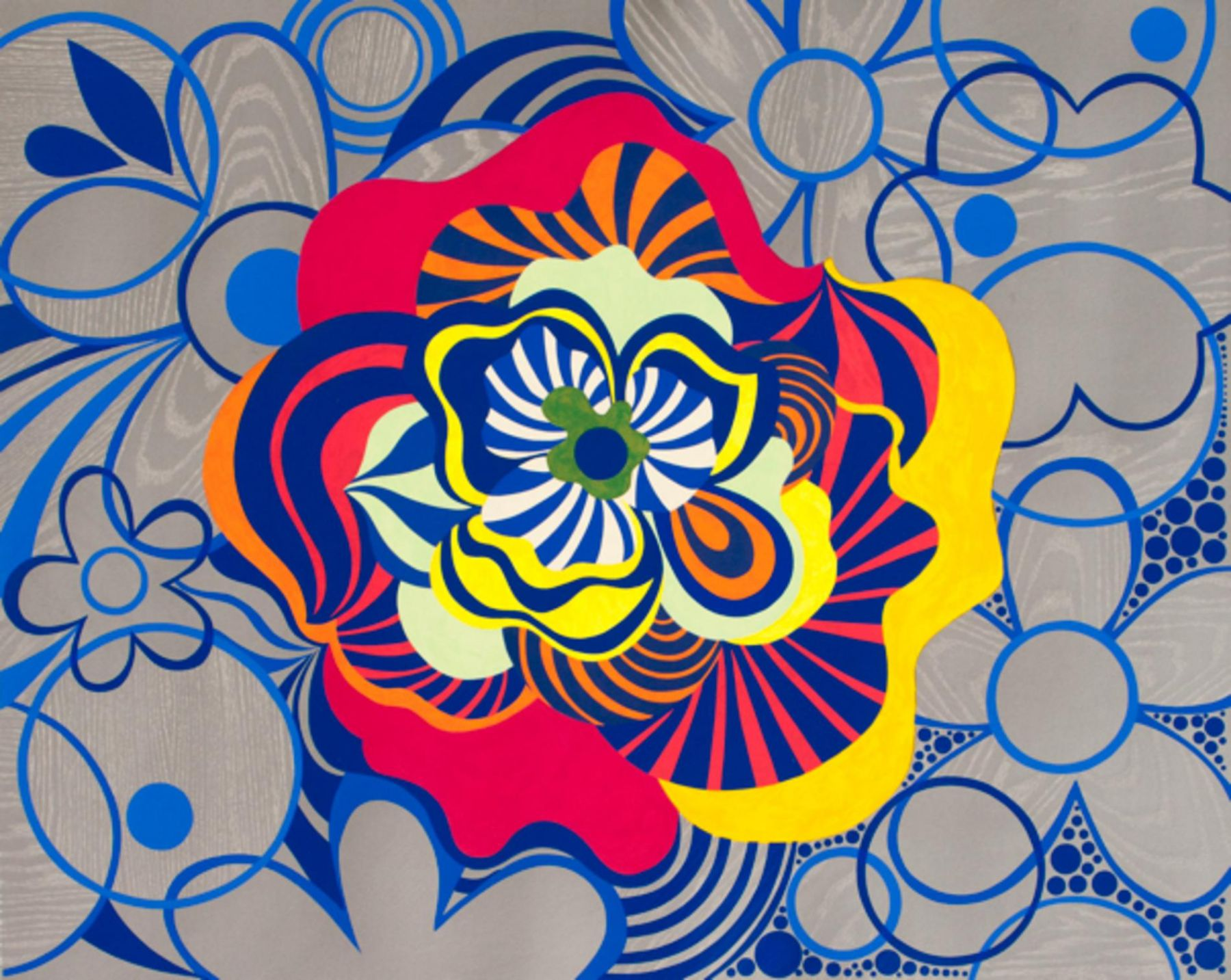 , BEATRIZ MILHAZES Snake Dreaming, 2013 Woodblock and screenprint on Saunders 425g paper 36 7/8 x 46 3/8 in. (93.7 x 117.8 cm) Edition of 40