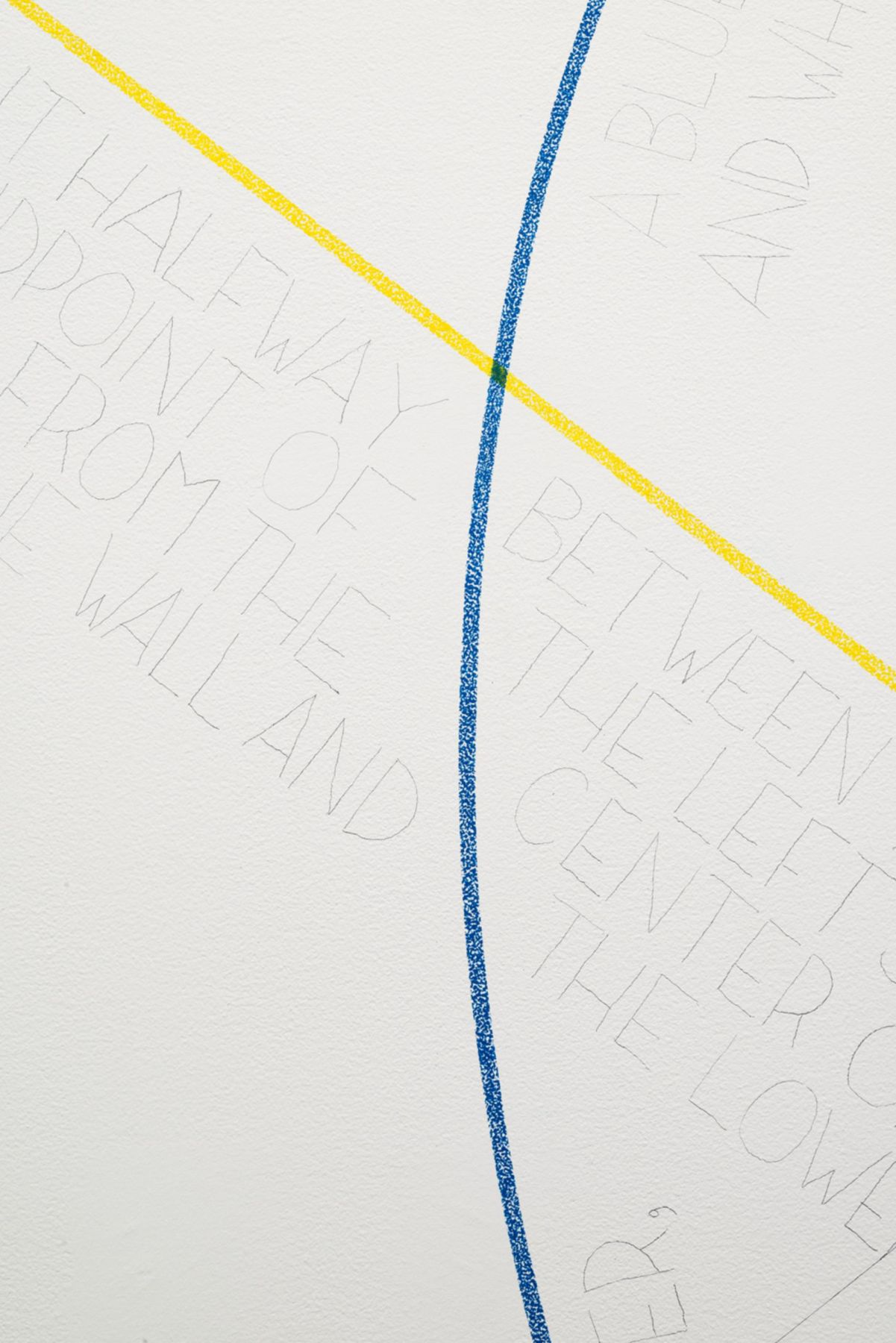 , SOL LEWITT Wall Drawing #283 (detail), 1976 Red, yellow, and blue crayon Dimensions variable  Courtesy of the Estate of Sol LeWitt and Paula Cooper Gallery, New York