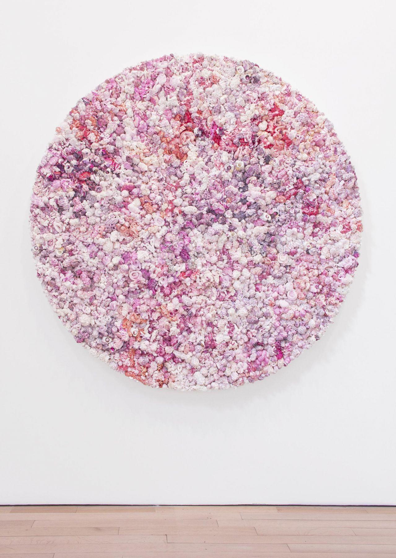 , Under Heaven -- 2808TR1601,2016,Oil on canvas, aluminum,70 3/4 in. (diameter) x 5 1/2 in.
