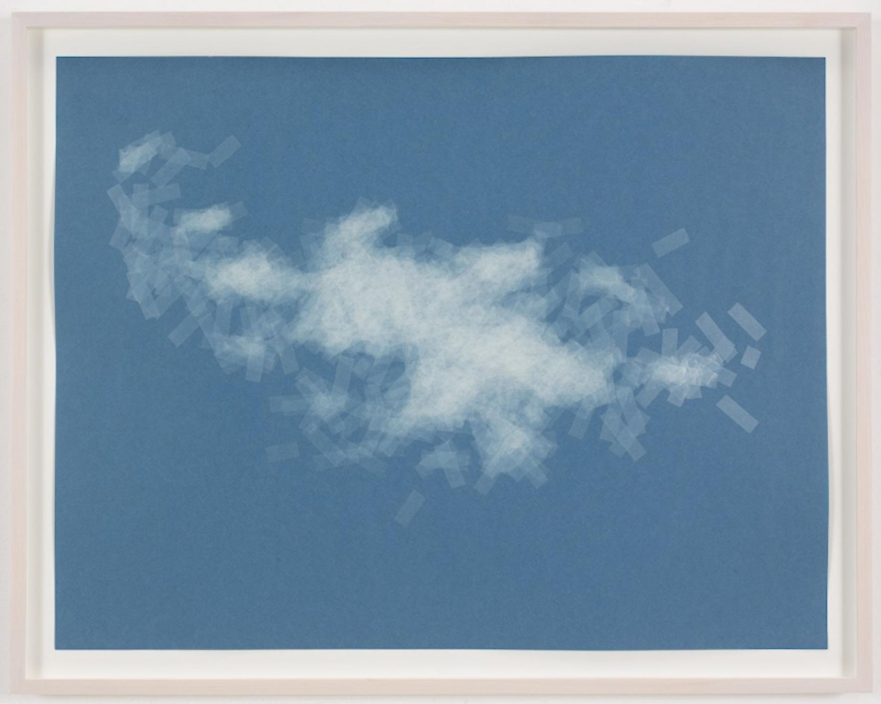 , SPENCER FINCH, Cloud (cumulus fractus, Paris), 2014, Scotch tape on paper, 19 3/4 x 25 1/2 in. (sheet), 21 5/8 x 27 1/2 in. (framed)