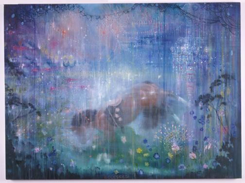 MANFREDI BENINATI, Eccesidesi, 2004, oil on canvas, 45 1/4 x 60 1/4 inches