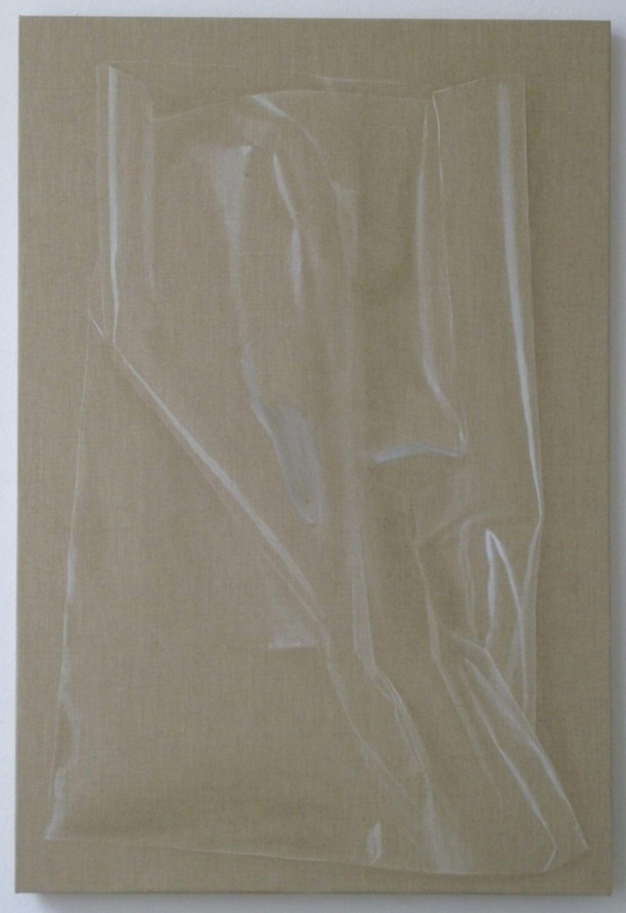 , HELENE APPELPlastic Bag,2014Watercolor on linen43 11/16 x 29 1/2 in. (111 x 75 cm)