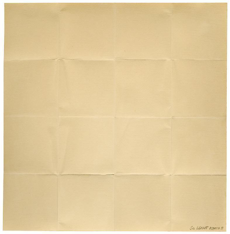 SOL LEWITT Folded Paper