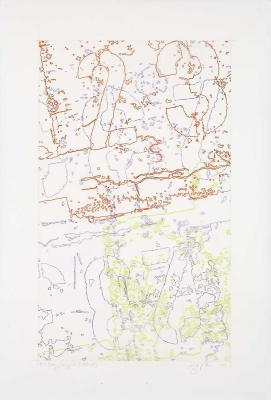 """INGRID CALAME英格丽•卡兰 #292 Drawing (Tracings from Buffalo, NY) 绘ç""""»292号(从纽约水牛城得到描图),2008"""