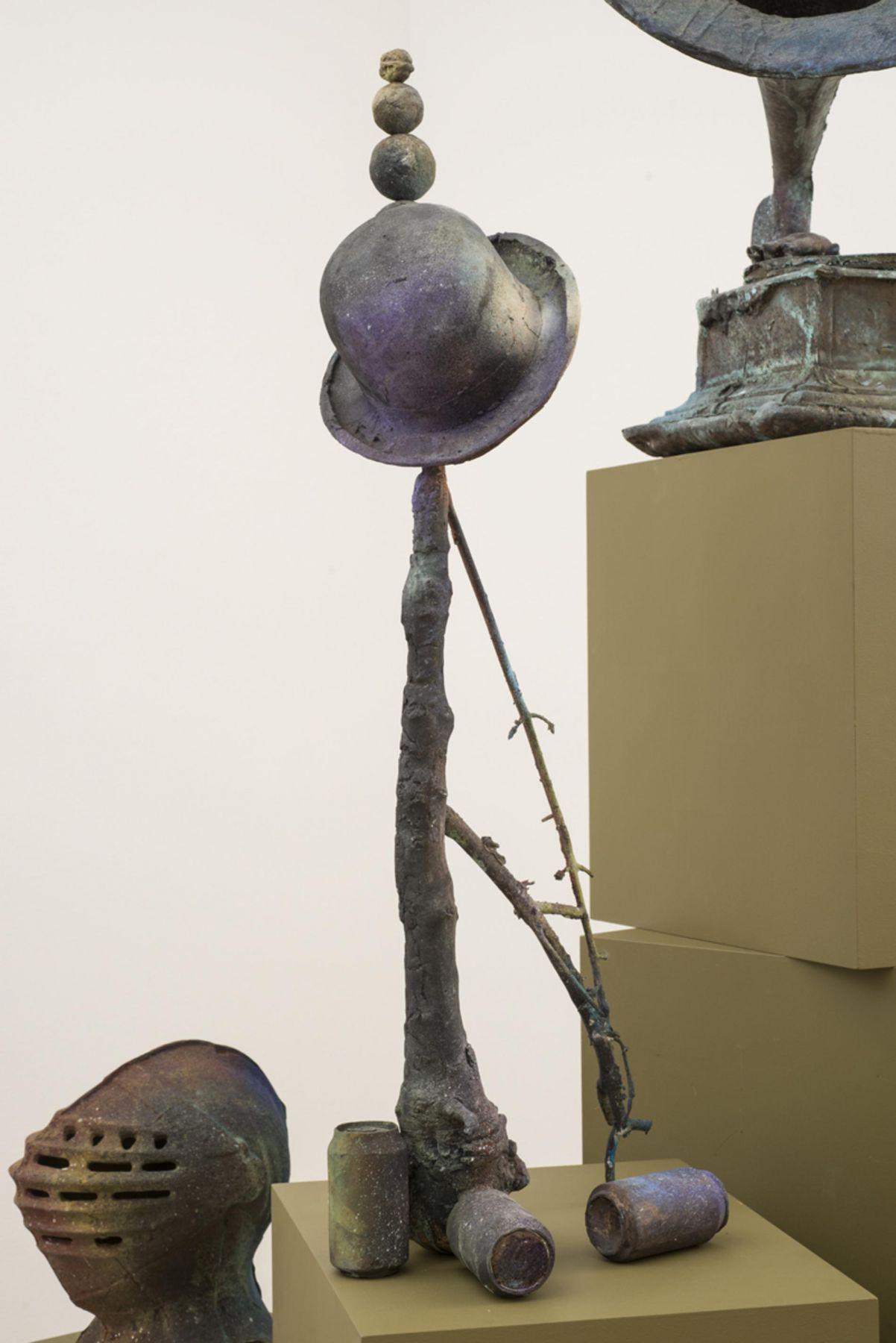 , FOLKERT DE JONGThe Trumps Major II,2014Patinated bronze43 1/4 x 15 11/16 x 11 3/4 in. (110 x 40 x 30 cm) Edition of 3
