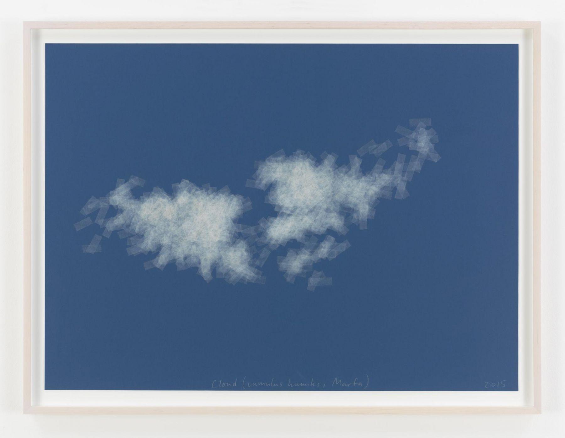 , SPENCER FINCH, Cloud (cumulus humilis, Marfa), 2015, Scotch tape on paper, 22 1/2 x 30 in. (57.1 x 76.2 cm)