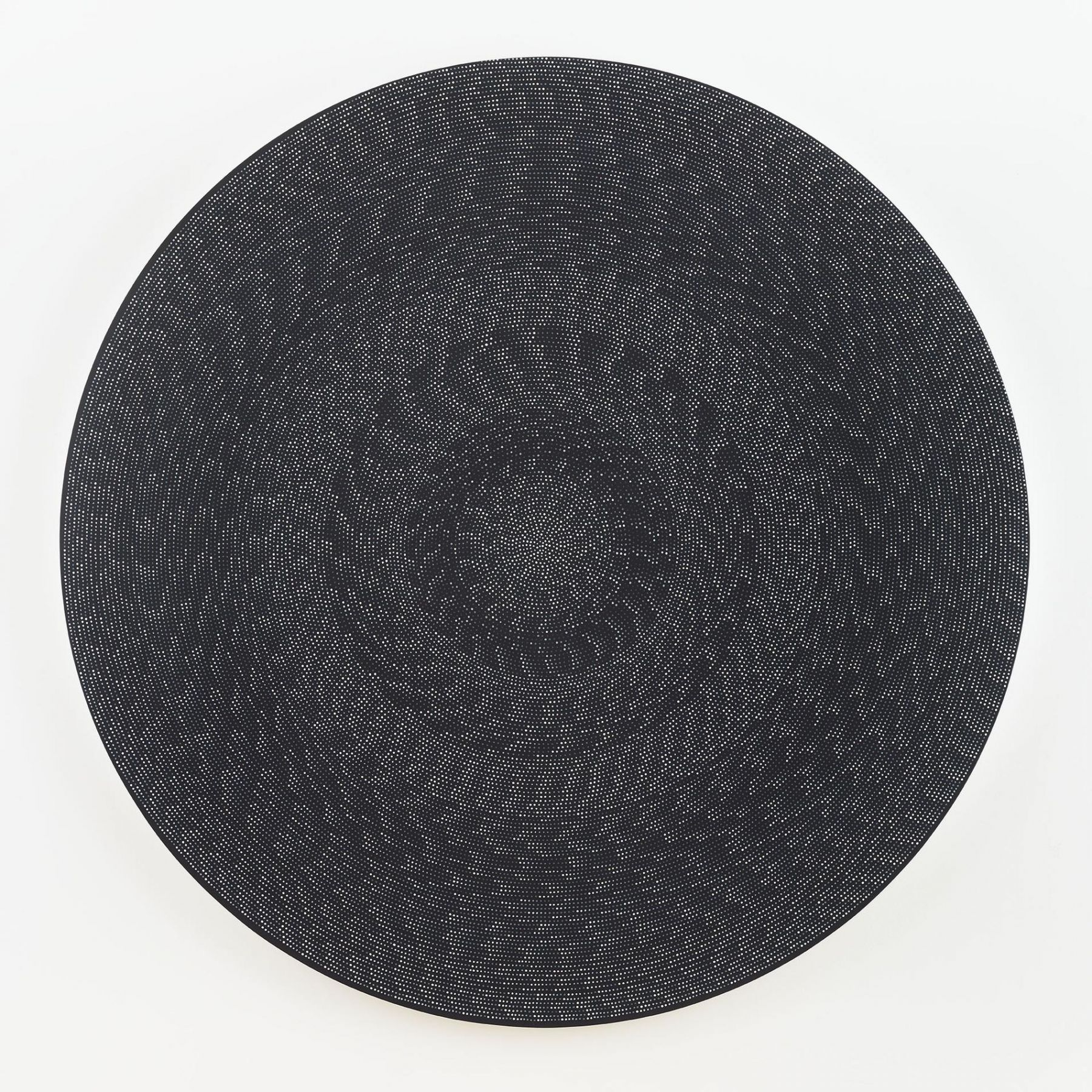 , MICHELLE GRABNER, Untitled, 2016, flashe and gesso on canvas, 80 in. (diameter) x 2 in.