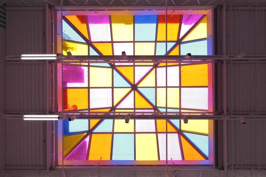 "Skylight, Work In Situ 2013 (Ref. ""Salle Coloree Jaune"" Private Collection Graziella Lonardi Roma Italy 1979)"