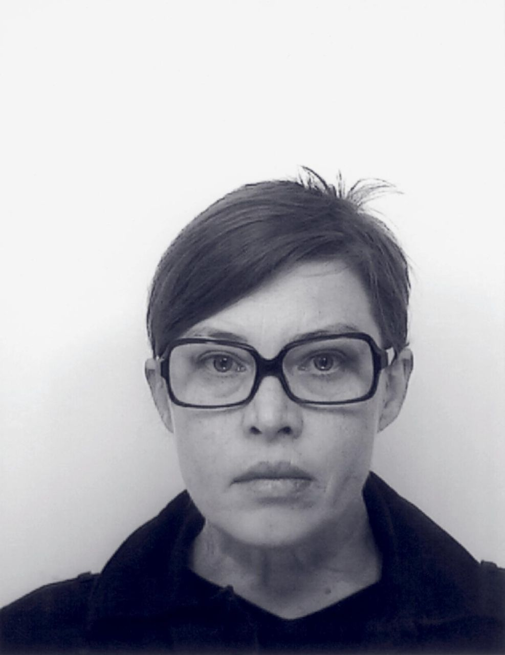 headshot of Cosima von Bonin in black and white