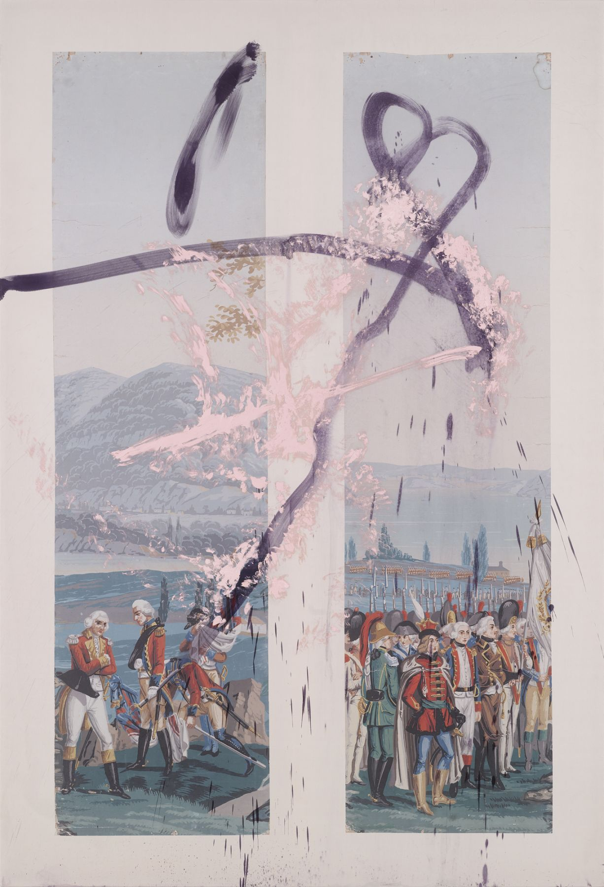 Julian Schnabel, And there was somebody wiping his tears with his flag V