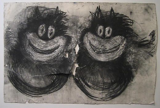 Twins 2005 Charcoal on paper