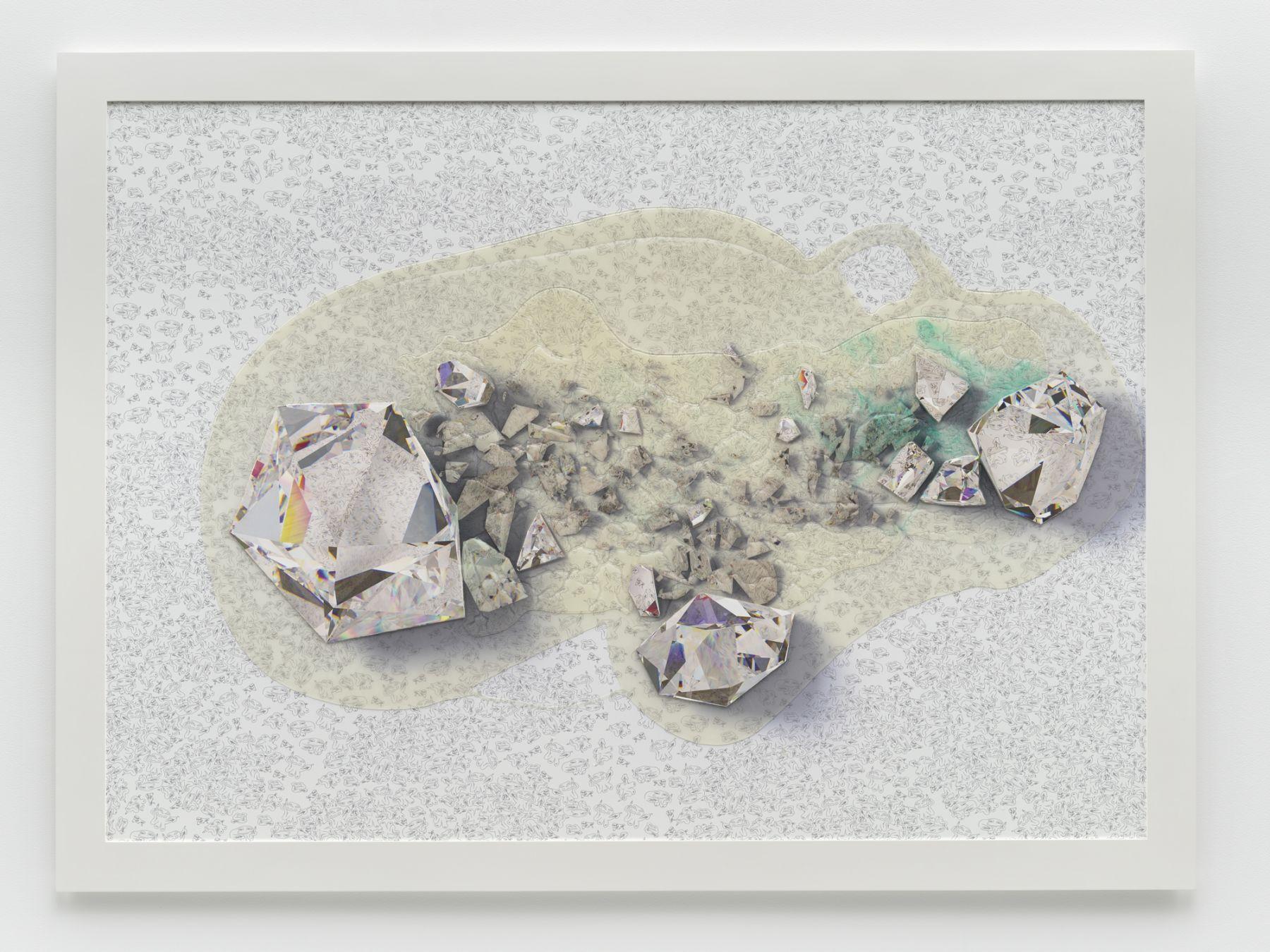 Seth Price, Crystalline Spill Lattice