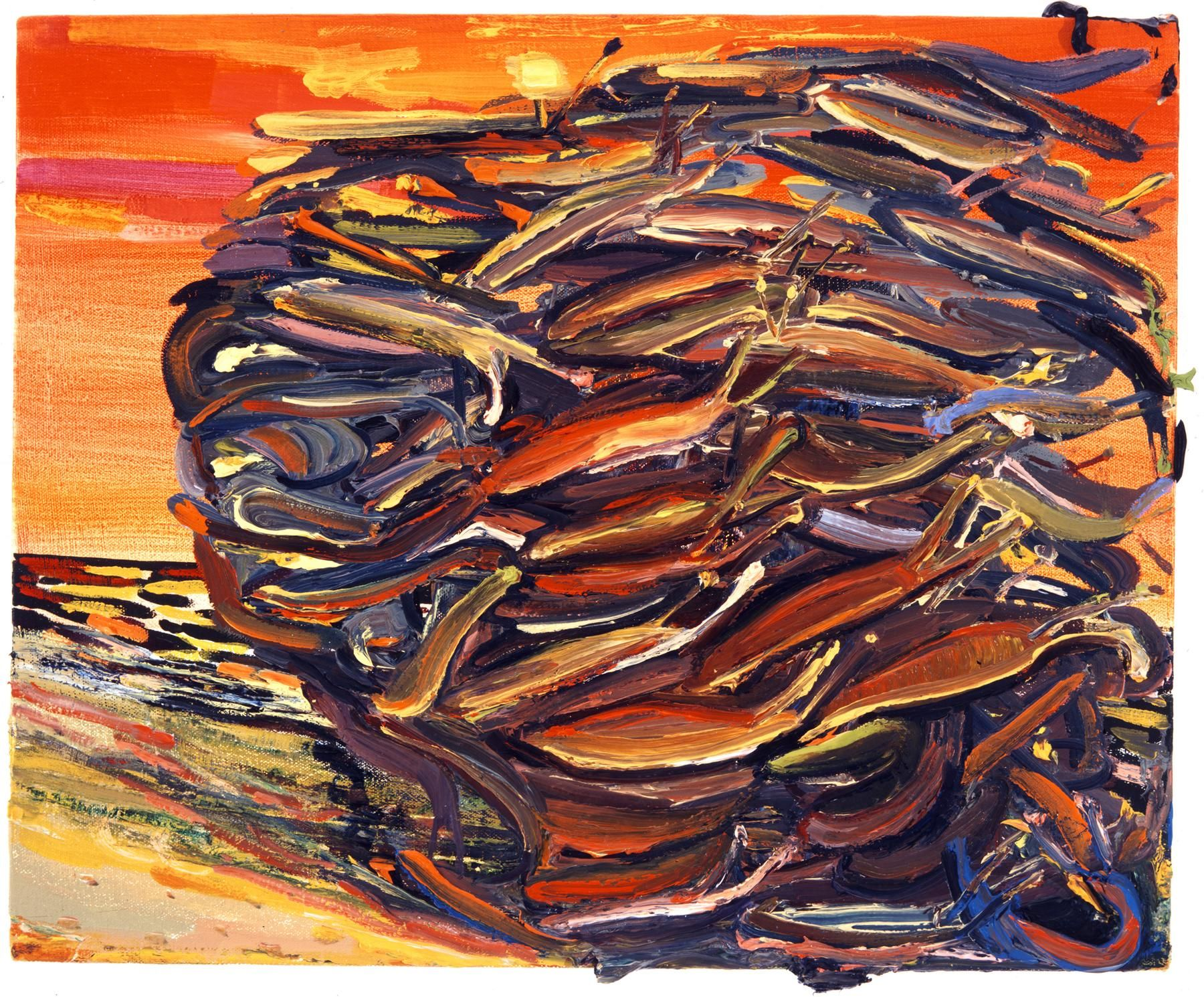 Slugs 2002 Oil on canvas
