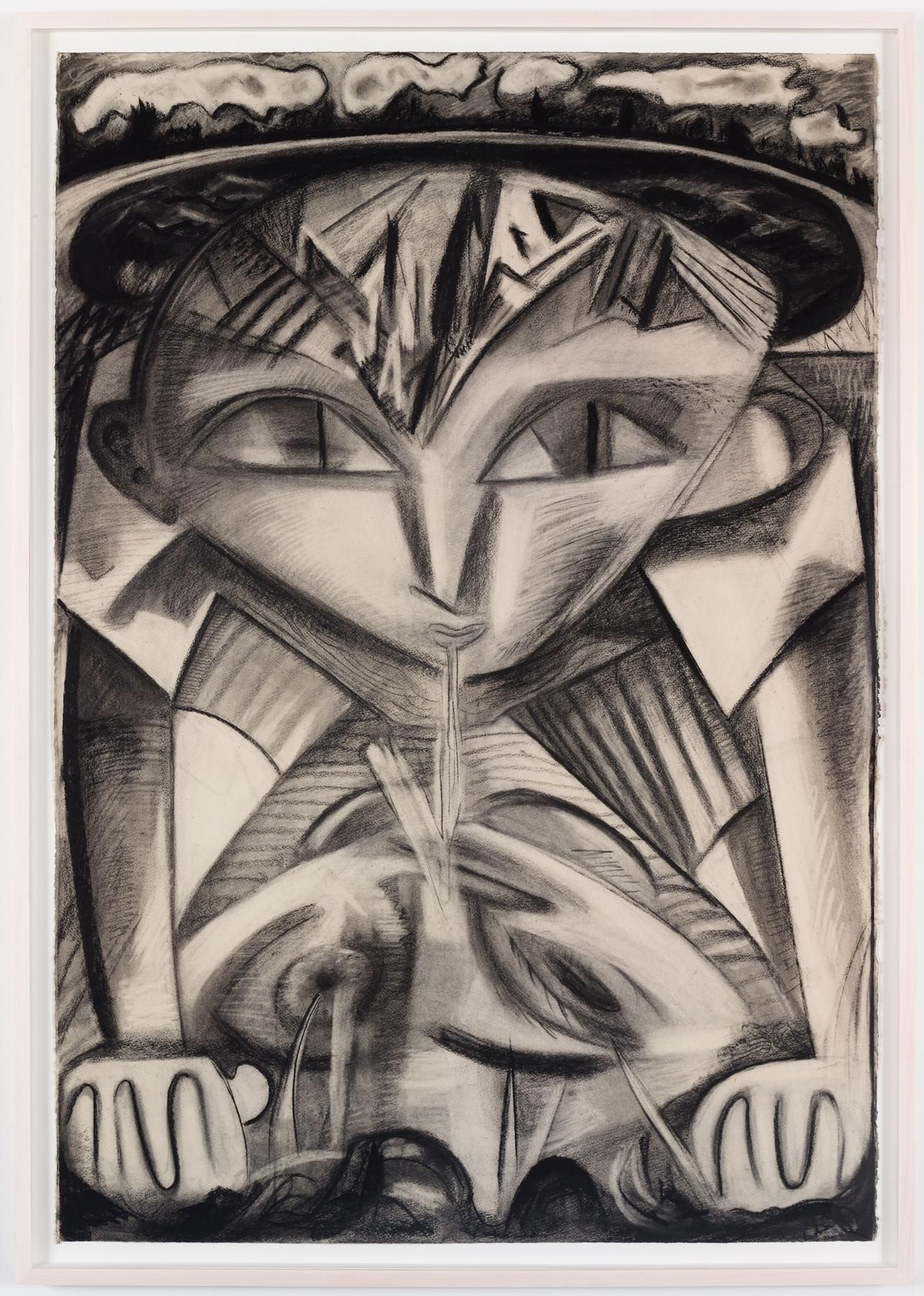 Spit 2015 Charcoal on paper