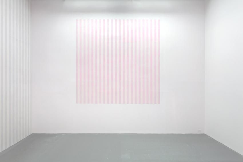 """Projection of a Square for 2 Walls, Work In Situ 2013 (Ref. """"Étant donné 2 Espaces"""" Gian Enzo Sperone Rome and Turin Italy 1974)"""