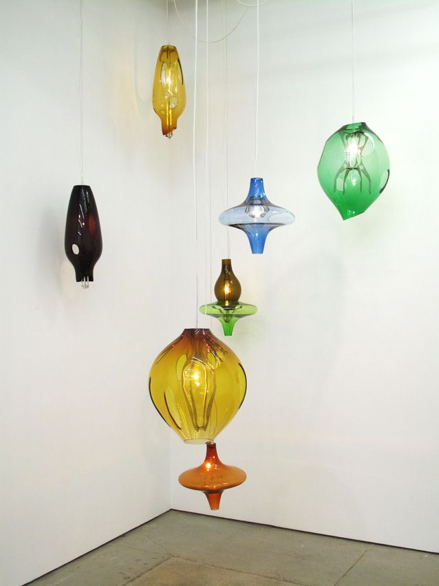 Jorge Pardo Untitled (Set of 7 hanging lamps)