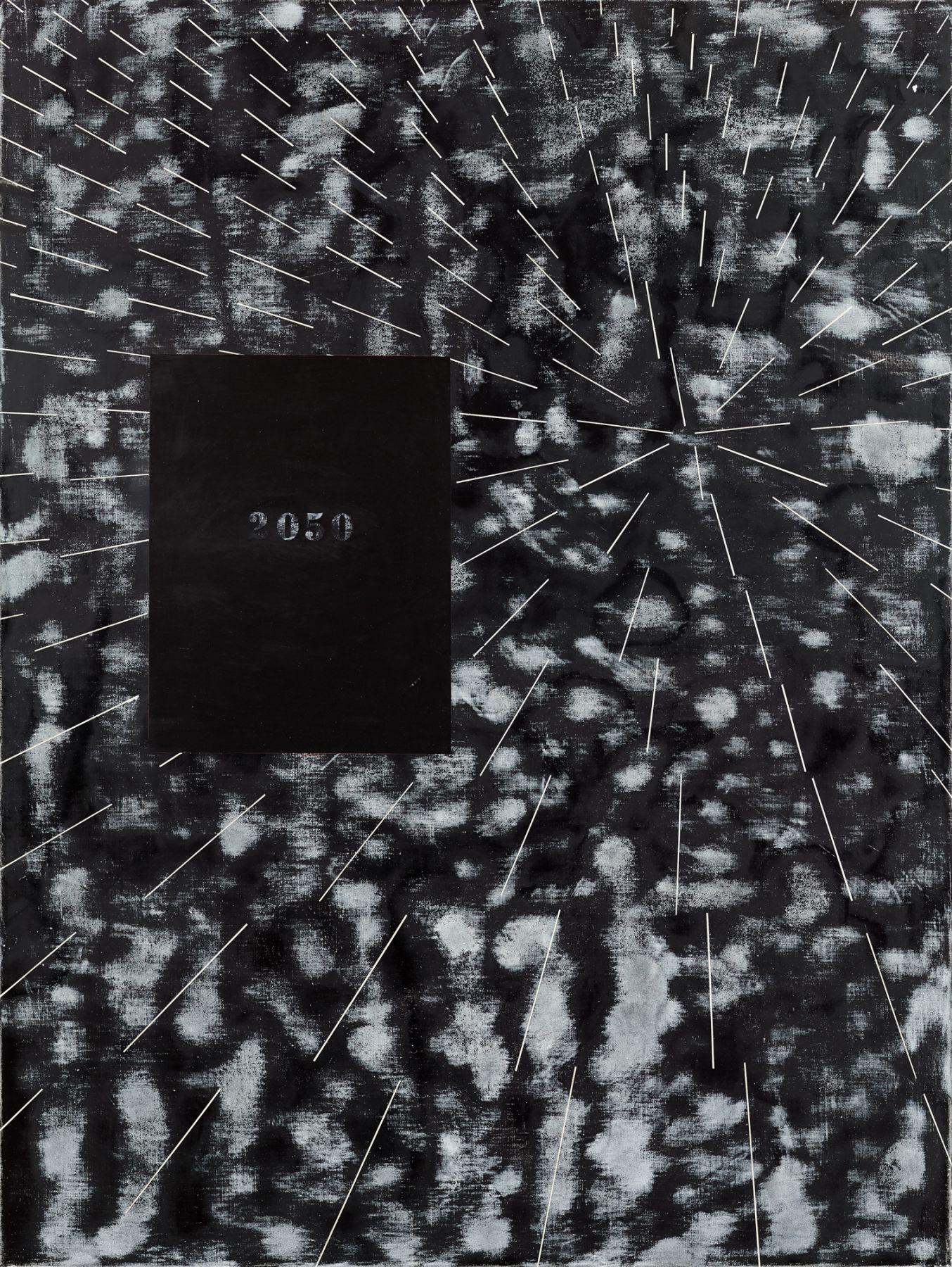 Ross Bleckner, Burn Painting (2050: Not My Future)