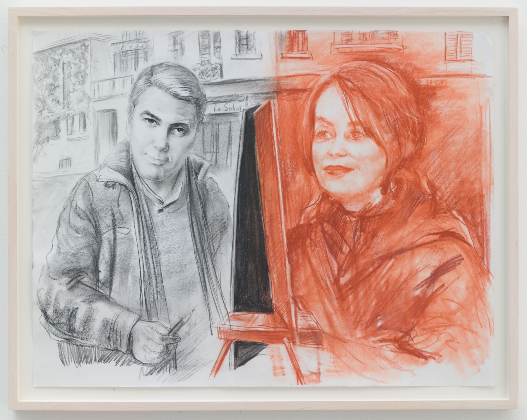Christian Jankowski, Isabelle Huppert - George Clooney
