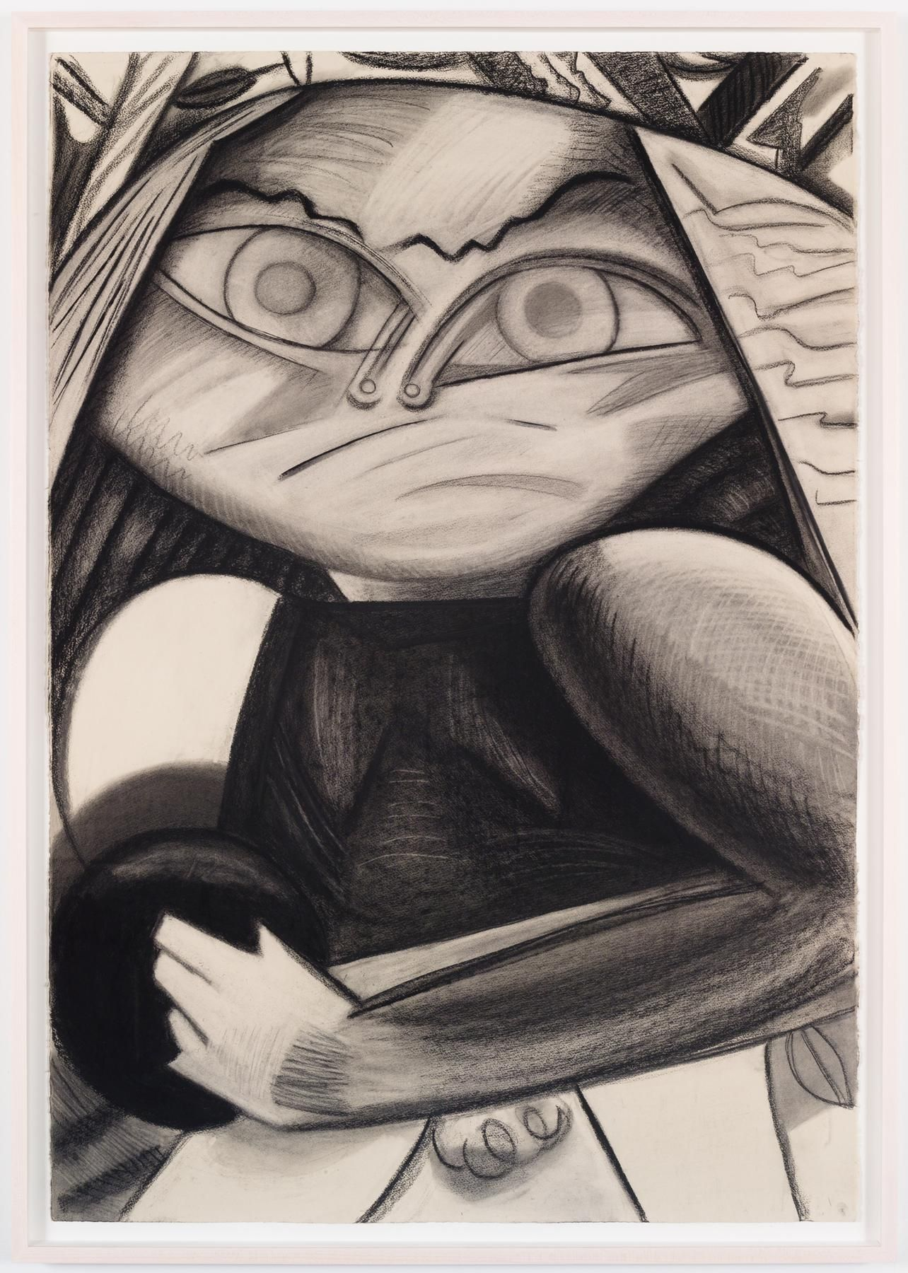 Bowler 2015 Charcoal on paper