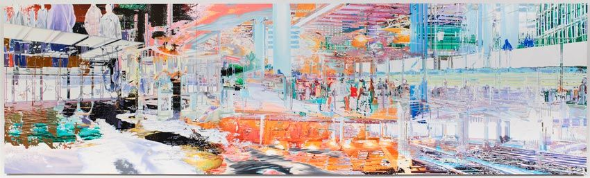 Bibliotheque/CDG-BSL 2011 Oil on wood