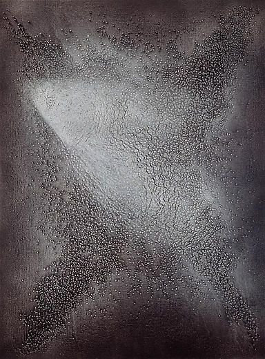 Untitled 2006 Caviar, lacquer on canvas