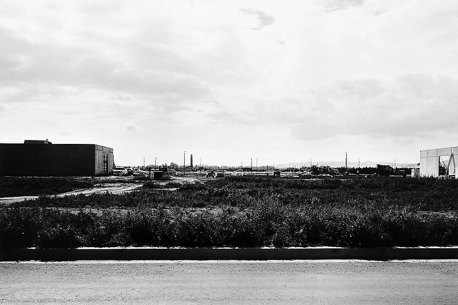 Lewis Baltz NIP #34: Milliken Road, between Gates and DuBridge Roads, looking East