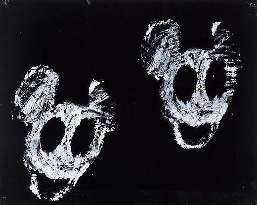 Mickeys 2003 Enamel on paper