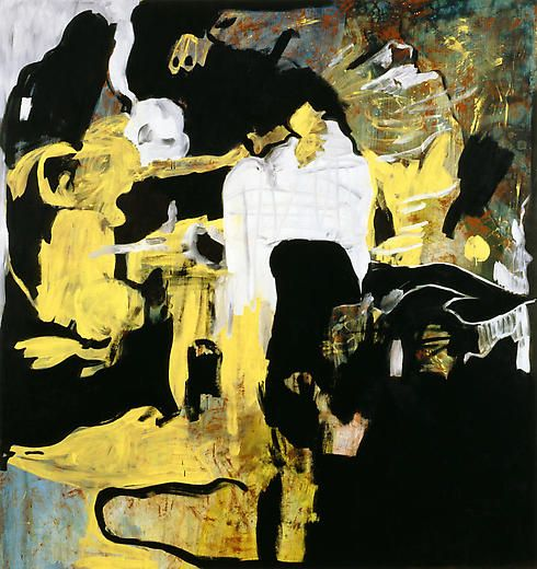Foul 2005 Acrylic and oil on canvas
