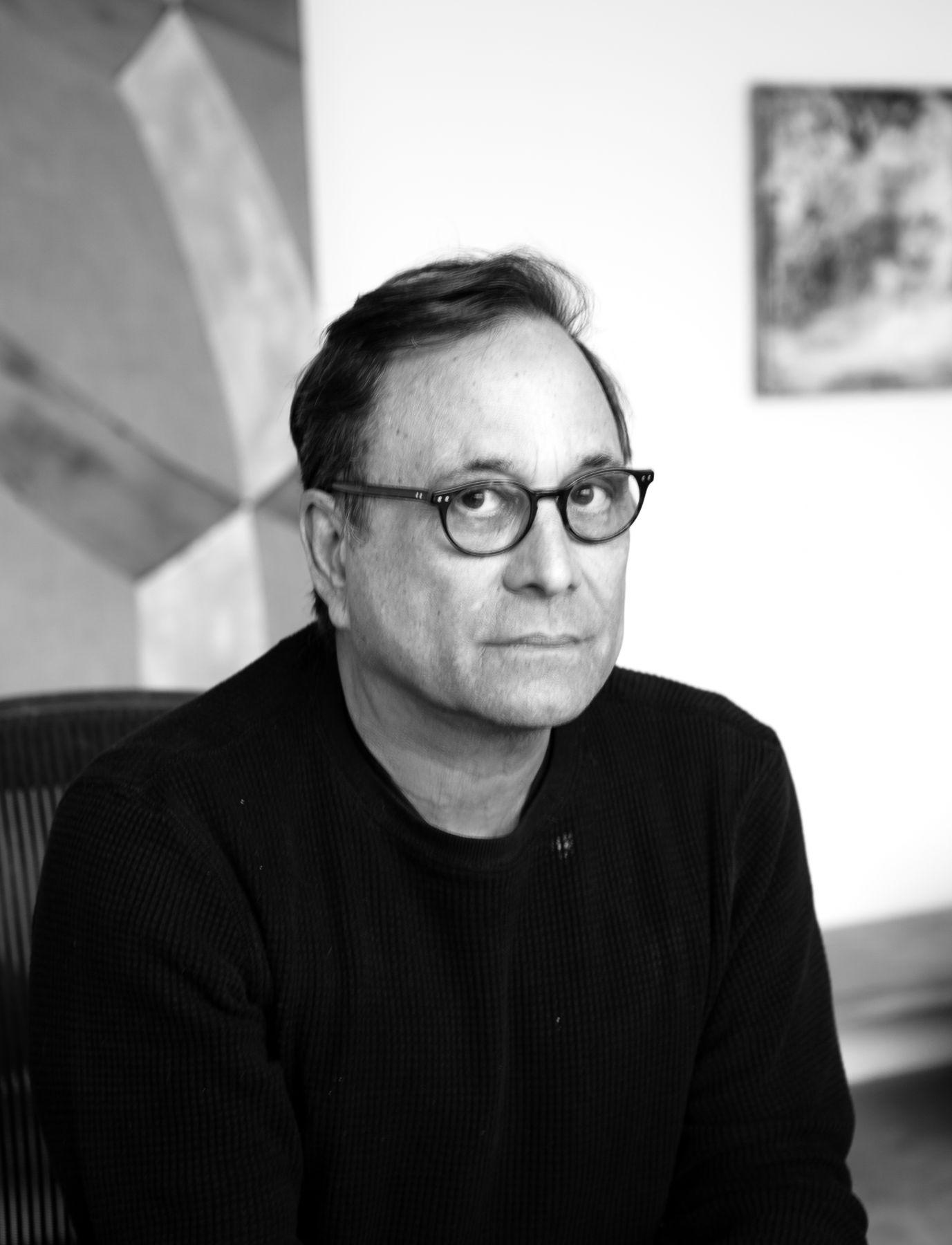 Portrait of Ross Bleckner in black and white