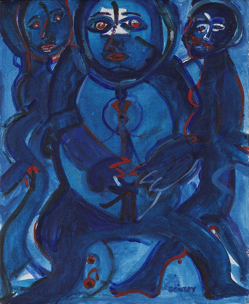 One Plus Two, 1983 , Acrylic on canvas