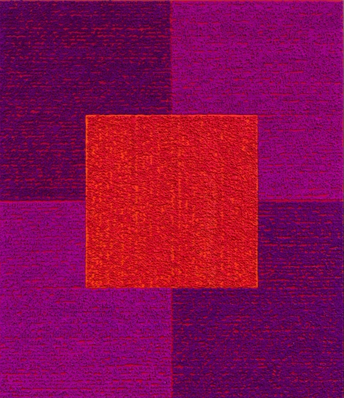 Violets Red, 2013, , Acrylic paint on bent aluminum panel