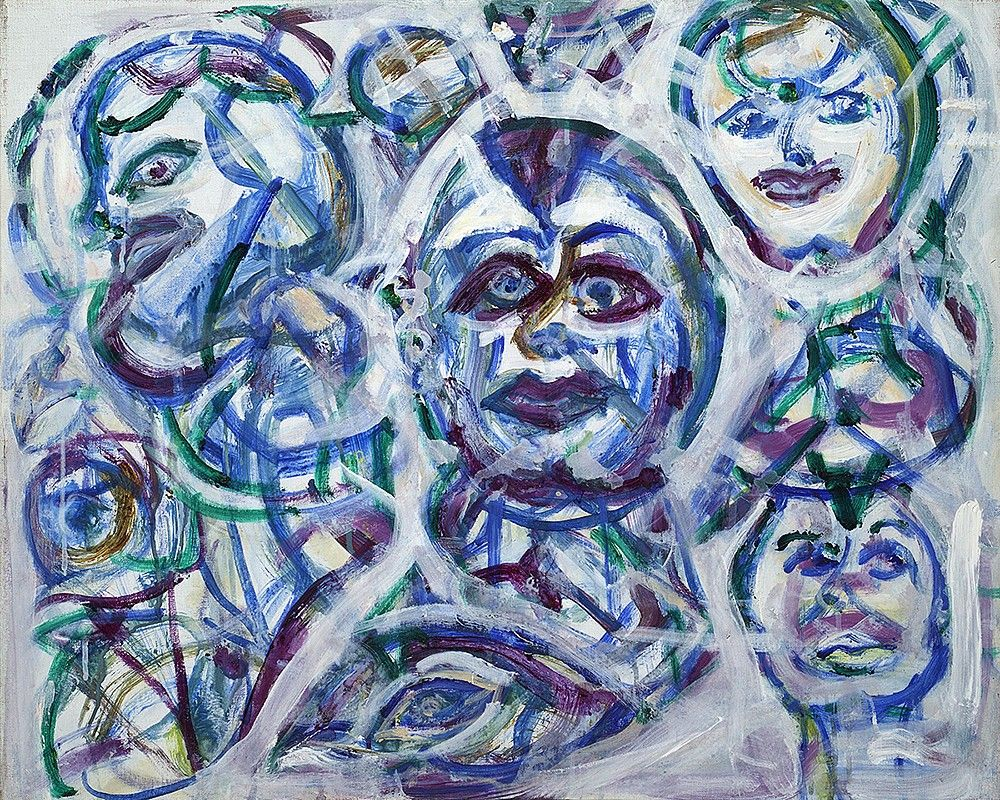 Among My Friends, 2000 , Acrylic on canvas