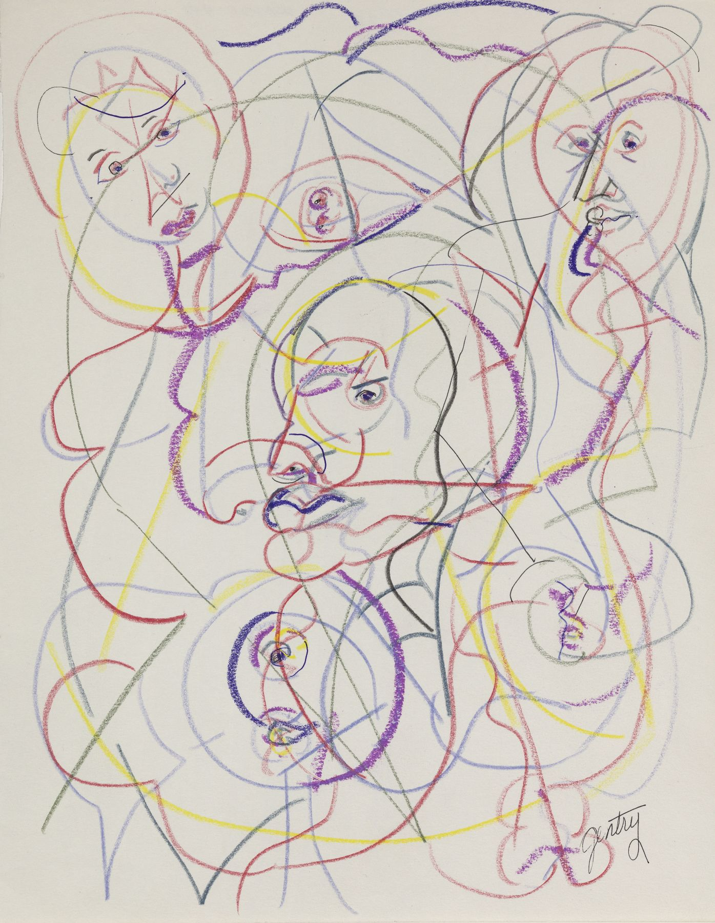 Untitled - DP-XV, 1993, Pastel and colored pencil on paper