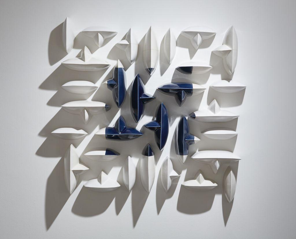 MAREN KLOPPMANN (b.1962), Wall Pillows Blue Square I, 2016
