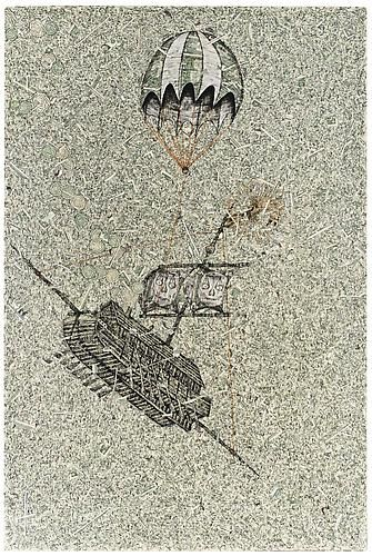 Andrew Schoultz, Para Trooping Skull Ship (2013)