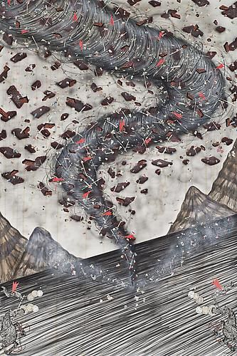 Andrew Schoultz, Tornado (Up In The Air) (2013)