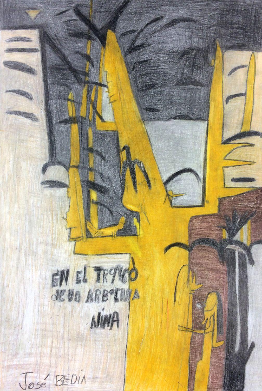 Andrew Hostick, Jose Bedia En El Tronco De Un Arbol Una Nina 1999, 2012